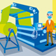 Textile Machinery Worker Profession Vector Illustration - GraphicRiver Item for Sale