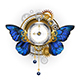 Antique Clock with Morpho Butterfly Wings - GraphicRiver Item for Sale