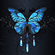 Blue Morpho Butterfly on Black Background - GraphicRiver Item for Sale