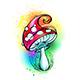 Bright Amanita Mushroom - GraphicRiver Item for Sale