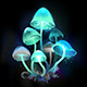 Glowing Blue Toadstools - GraphicRiver Item for Sale