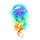 Large Rainbow Jellyfish - GraphicRiver Item for Sale