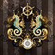 Symmetrical Composition with Seahorse - GraphicRiver Item for Sale