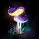 Two Glowing Mushrooms - GraphicRiver Item for Sale