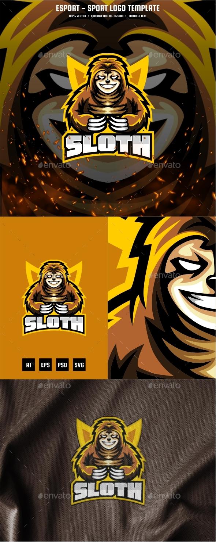 Sloth E-sport and Sport Logo Template