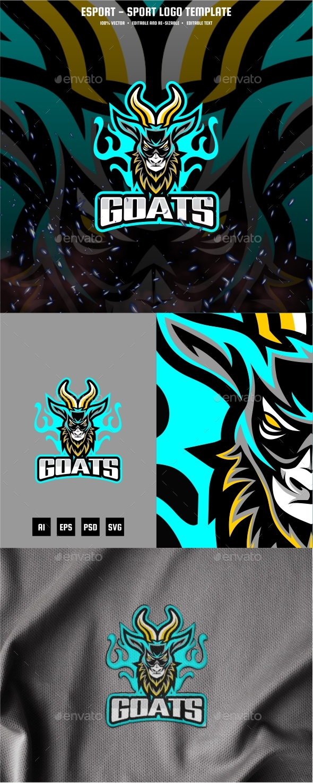 Evil Goat E-sport and Sport Logo Template