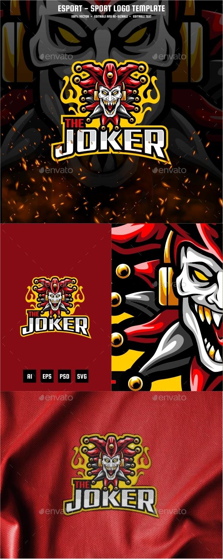 The Joker E-sport and Sport Logo Template