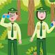 Forest Ranger Vector Illustration - GraphicRiver Item for Sale