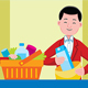 Cashier Profession Vector Illustration - GraphicRiver Item for Sale