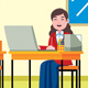 Businesswoman Profession Vector Illustration - GraphicRiver Item for Sale