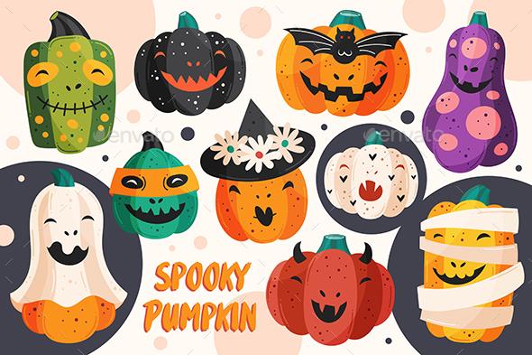 Halloween Pumpkin Styles Illustration