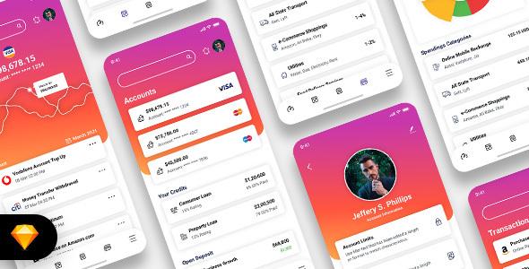Download Diologic - E-Wallet Mobile App UI Kit Nulled
