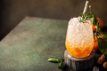 Fresh cocktail with crushed ice, rosemary and tangerines - PhotoDune Item for Sale
