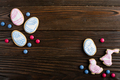 Candies, Easter frosted cookies in shape of egg chicken and rabbit - PhotoDune Item for Sale
