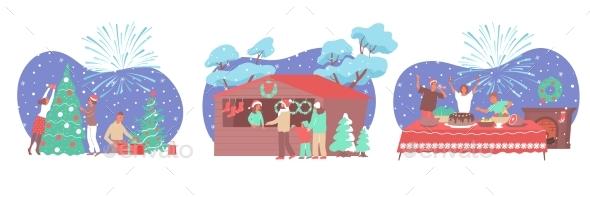 Christmas Composition Set