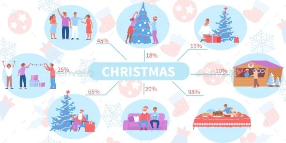 Flat Christmas Infographics