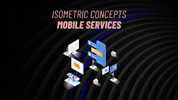 Mobile Services - Isometric Concept