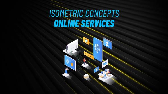 Online Service - Isometric Concept