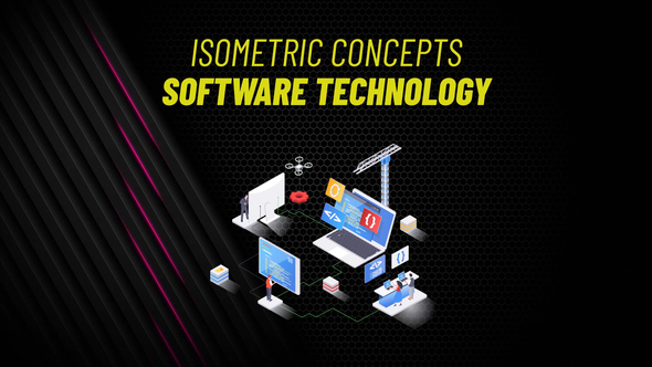 Software Technology - Isometric Concept