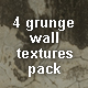 4 Grunge Wall Textures Pack - GraphicRiver Item for Sale