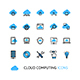 Cloud Computing Sign Thin Line Icon Set - GraphicRiver Item for Sale
