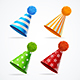 Realistic Detailed Party Hat Set - GraphicRiver Item for Sale
