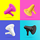 Realistic Detailed 3d Megaphone Card Banner Set - GraphicRiver Item for Sale