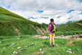 Girl in a mountain meadow - PhotoDune Item for Sale