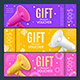 Gift Voucher Card Ad Horizontal Set Vector - GraphicRiver Item for Sale