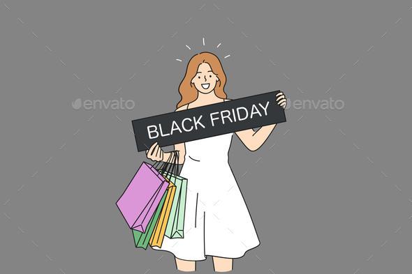 Black Friday Discount Sales Concept
