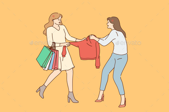 Shopping Competition Fighting Concept