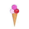 Lipstick smeared in the form of ice cream - PhotoDune Item for Sale