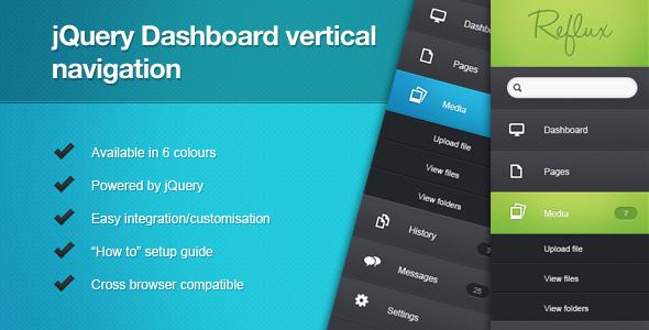 jQuery Dashboard Vertical Navigation