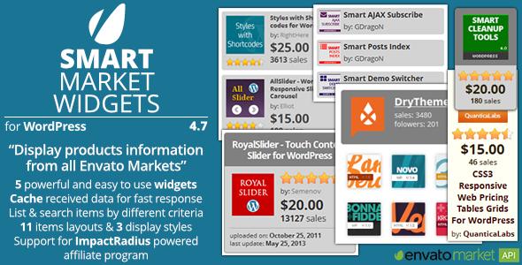 Smart Market Widgets – Plugin for WordPress and Envato Market, Gobase64