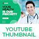 Medical Healthcare YouTube Thumbnail Template - GraphicRiver Item for Sale