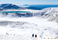 View of Hikers at Emerald Lakes on Tongariro Crossing Track - PhotoDune Item for Sale