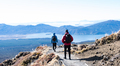 View of Hikers at the Edge of a Path on the Tongariro Alpine Crossing During the Winter - PhotoDune Item for Sale