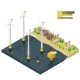 Vector Isometric Offshore Wind Farm - GraphicRiver Item for Sale