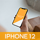 Phone 12 Pro Max in Hand Minimalistic Mockup - GraphicRiver Item for Sale