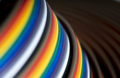 Cable and wires rainbow colored blurred close-up - PhotoDune Item for Sale