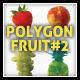 Polygon Triangular Vector Fruit Set #2 - GraphicRiver Item for Sale
