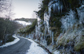 Dangerous winter conditions on a road after a freezing night - PhotoDune Item for Sale