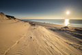 view from dune top on North sea beach at sunset - PhotoDune Item for Sale