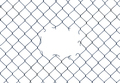 Hole In A Chain-Link Fence - PhotoDune Item for Sale