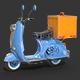 Vespa Delivery Scooter - 3DOcean Item for Sale