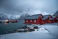 Beautiful Reine fishing village in Lofoten Islands in Winter, Norway - PhotoDune Item for Sale