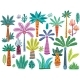 Set of Various Abstract Decorative Palms - GraphicRiver Item for Sale