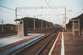 A train station in the evening - PhotoDune Item for Sale