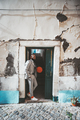 African man with ball in the doorway - PhotoDune Item for Sale