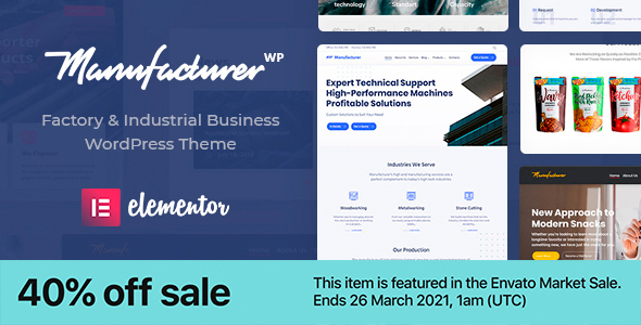 Manufacturer – Factory and Industrial WordPress Theme, Gobase64